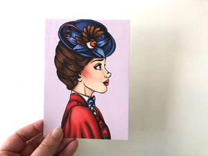 Mary Poppins Profile - Mary Poppins Returns - Postcard