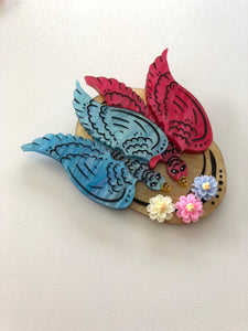 Mary Poppins Returns Cartoon Bird Hat - Laser Cut Acrylic Brooch