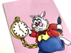White Rabbit - Alice in Wonderland Postcard