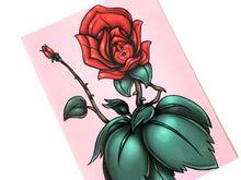Load image into Gallery viewer, Red Rose - Flower Garden - Alice in Wonderland - Postcard