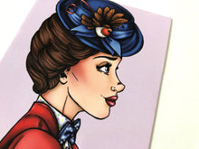 Load image into Gallery viewer, Mary Poppins Profile - Mary Poppins Returns - Postcard