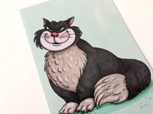 Load image into Gallery viewer, Lucifer Cat - Cinderella Postcard
