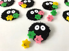 Load image into Gallery viewer, Soot Sprite 2 - Part Laser Cut Acrylic Brooch