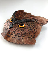 Load image into Gallery viewer, Pearlescent Brown Owl - Laser Cut Acrylic Brooch