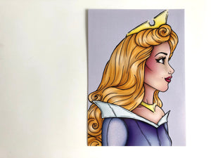 Aurora - Sleeping Beauty - Blue - Postcard