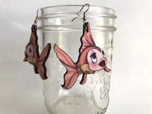 Load image into Gallery viewer, Cleo Fish - Pinocchio - Laser Cut Wood Dangle Earrings