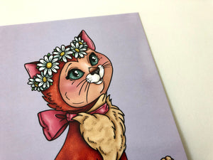 Dinah - Cat - Alice in Wonderland - Postcard