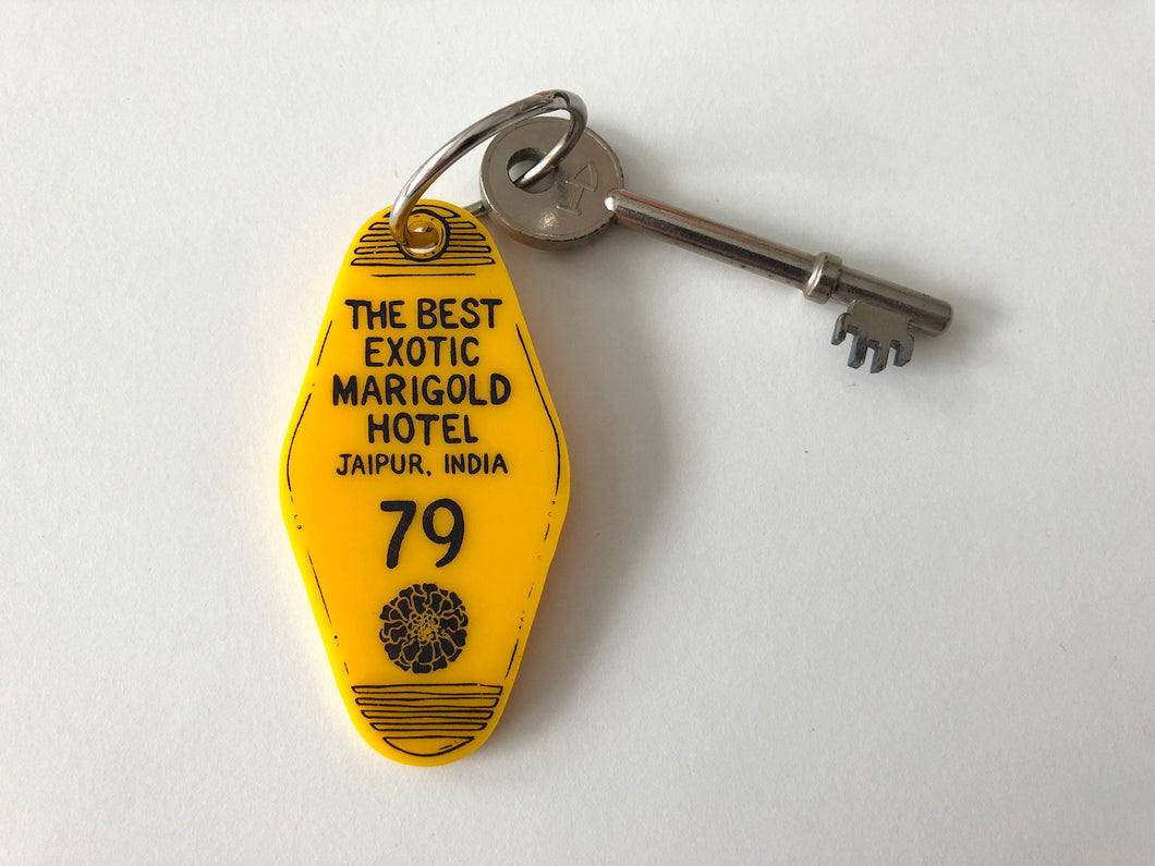 The Best Exotic Marigold Hotel - Hotel Room Key Ring - Keychain - Laser Cut Acrylic