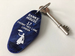 Banks' House - Mary Poppins - Keychain - Laser Cut Acrylic