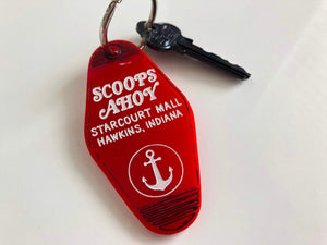 Scoops Ahoy - Stranger Things - Hotel Room Key Ring - Keychain - Laser Cut Acrylic