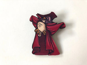 Dancing Owl - Sleeping Beauty - Laser Cut Wood Brooch