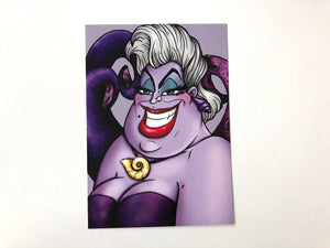 Ursula & Vanessa - The Little Mermaid Postcards - SET OF TWO Postcards