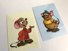 Load image into Gallery viewer, Gus and Jaq Mouse - Cinderella - Profile Postcard Set of Two