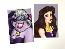 Load image into Gallery viewer, Ursula & Vanessa - The Little Mermaid Postcards - SET OF TWO Postcards