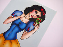 Load image into Gallery viewer, Selfie Snow White Postcard