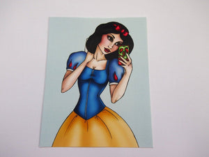 Selfie Snow White Postcard