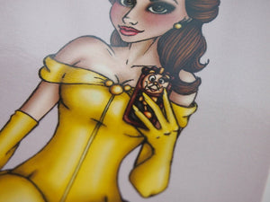 Selfie Princess Belle Beauty and the Beast Postcard