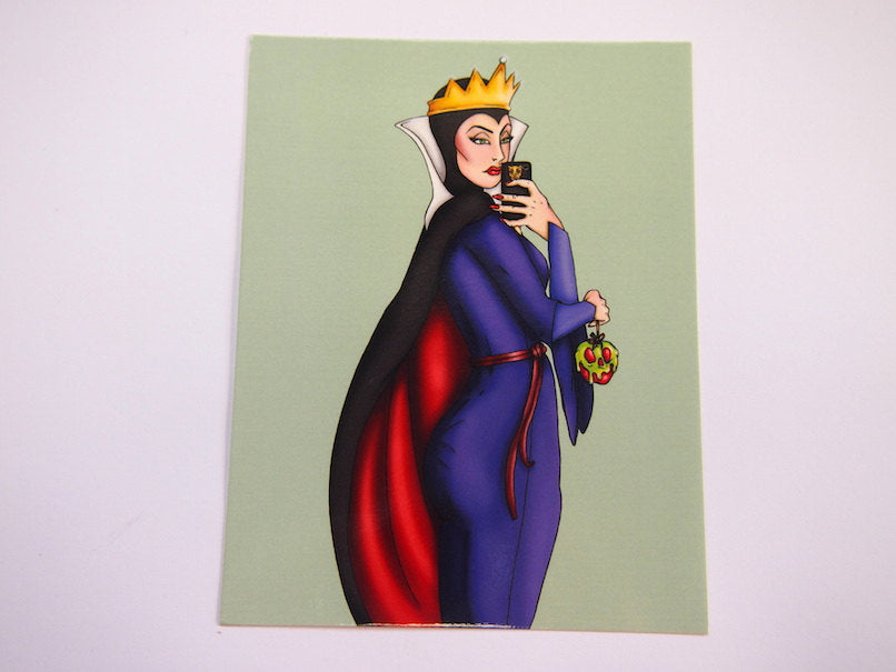 Selfie Evil Queen Snow White Postcard