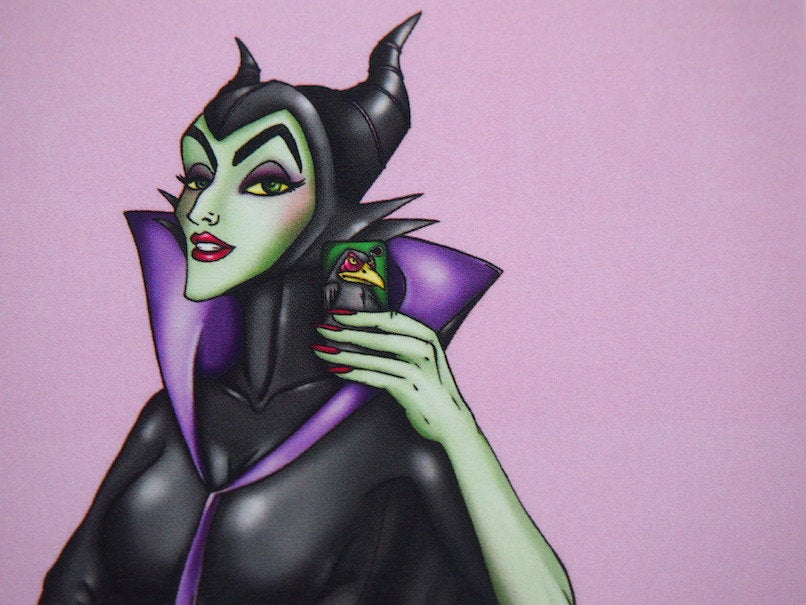 Selfie Maleficent Postcard