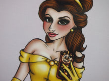 Load image into Gallery viewer, Selfie Princess Belle Beauty and the Beast Postcard