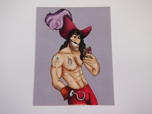 Selfie Captain Hook Peter Pan Postcard