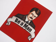 Load image into Gallery viewer, Ron Swanson Parks and Recreation Postcard