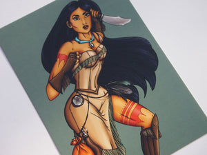 Steampunk Pocahontas Postcard by Hungry Designs