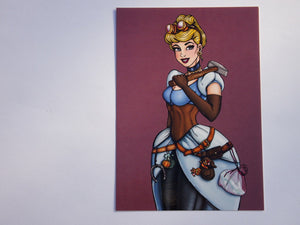 Steampunk Cinderella Postcard by Hungry Designs