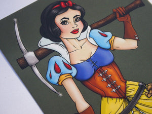 Steampunk Snow White Postcard by Hungry Designs