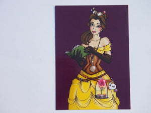 Steampunk Belle from Beauty and the Beast Postcard by Hungry Designs