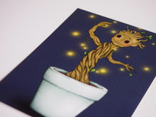 Load image into Gallery viewer, Illustrated Groot Guardians of the Galaxy  Postcard