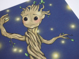 Illustrated Groot Guardians of the Galaxy  Postcard