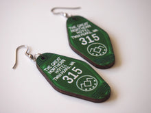 Load image into Gallery viewer, Twin Peaks The Great Northern Hotel Room - Laser Cut Wood Dangly Earrings