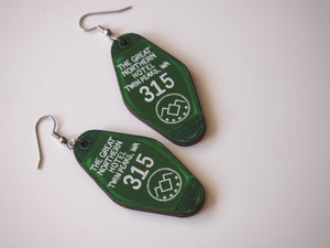 Twin Peaks The Great Northern Hotel Room - Laser Cut Wood Dangly Earrings
