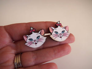 Marie Cat - Aristocats - Laser Cut Wood Earrings