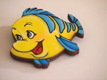 Load image into Gallery viewer, Flounder - The Little Mermaid - Laser Cut Wood Brooch
