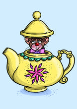 Load image into Gallery viewer, Teapot Mouse-  Alice in Wonderland A4 Art Print by Hungry Designs