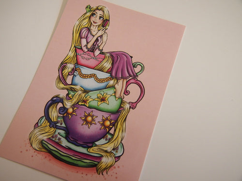 Teacup Rapunzel Postcard