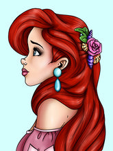 Load image into Gallery viewer, Ariel - The Little Mermaid - A4 Art Print by Hungry Designs