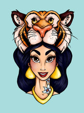 Load image into Gallery viewer, Hunter Jasmine - Aladdin - A4 Art Print by Hungry Designs