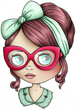 Load image into Gallery viewer, Blythe Doll - Mint Green and Red - A4 Art Print by Hungry Designs