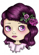 Load image into Gallery viewer, Blythe Doll - Pink and Purple - A4 Art Print by Hungry Designs