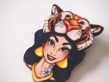 Load image into Gallery viewer, Hunted Jasmine - Aladdin - Laser Cut Wood Brooch
