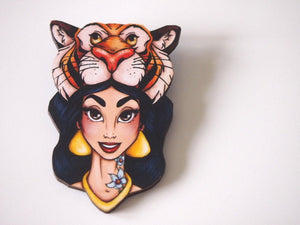 Hunted Jasmine - Aladdin - Laser Cut Wood Brooch