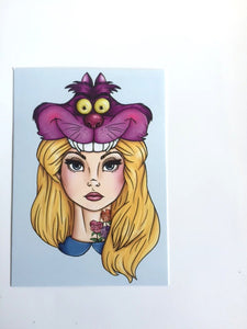 Hunter Alice - Alice in Wonderland - Postcard