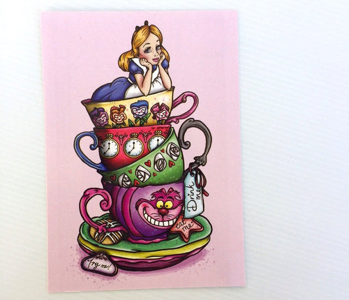Teacup Alice Postcard