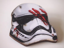 Load image into Gallery viewer, Finn Storm Trooper Helmet- Star Wars - Laser Cut Wood Brooch