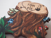 Load image into Gallery viewer, Finn and Poe Love - Star Wars - Laser Cut Wood Brooch