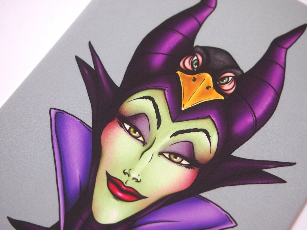 Hunter Maleficent Postcard