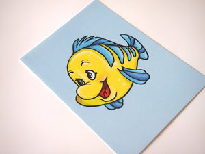 Flounder - The Little Mermaid Postcard